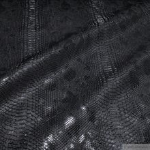 PVC / Polyester / Polyurethan Kunstleder Krokodil schwarz