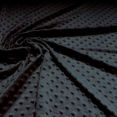 Polyester Minky Fleece schwarz Noppen