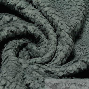 Baumwolle Plüsch Teddy grau