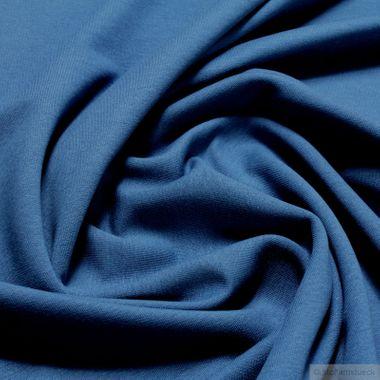 Baumwolle / Elastan Single Jersey French Terry blau
