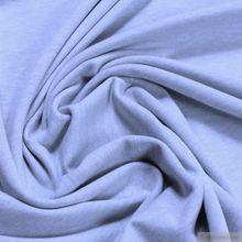 Bio-Baumwolle / Elastan Single Jersey pastellblau meliert kbA