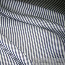 Baumwolle Leinwand Römerstreifen dunkelblau weiß