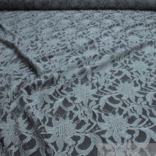 Polyamid / Polyester / Elastan Spitze grau Blume