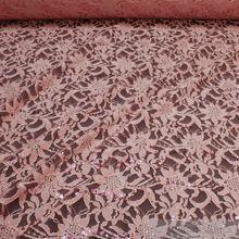 Polyamid / Polyester / Elastan Spitze rosa Blume Pailletten