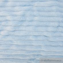 Polyester Minky Fleece hellblau Streifen