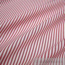 Baumwolle Leinwand Römerstreifen rot weiß