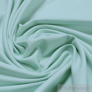 Baumwolle / Elastan Single Jersey mint