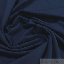 Baumwolle / Elastan Single Jersey dunkelblau