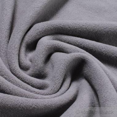 Baumwolle Fleece grau