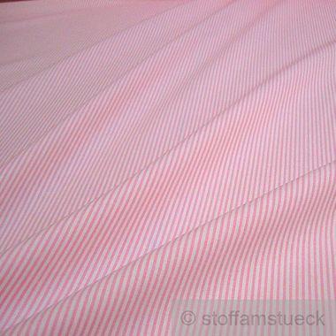 Baumwolle Leinwand Zündholzstreifen rosa weiß