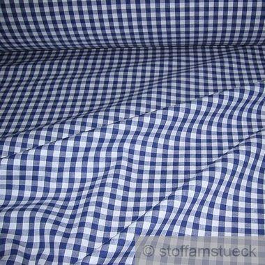 Baumwolle Leinwand Vichy Karo groß dunkelblau weiß