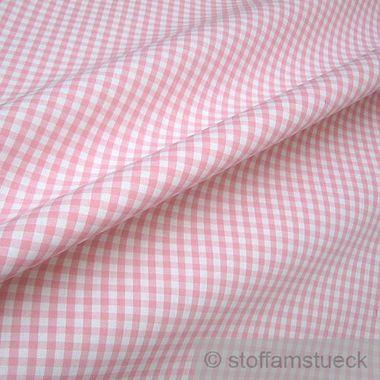Baumwolle Leinwand Vichy Karo groß rosa weiß