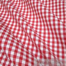 Baumwolle Leinwand Vichy Karo groß rot weiß