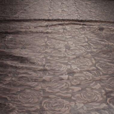 Polyester / Elastan Jacquard Stretch Kleidertaft braun Rose