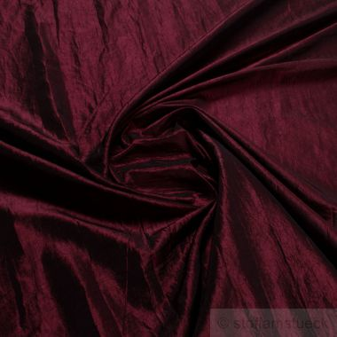 Polyester Crash Kleidertaft bordeaux