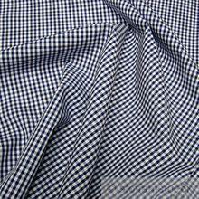 Baumwolle Leinwand Vichy Karo dunkelblau weiß