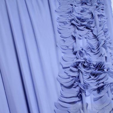 Polyester Chiffon himmelblau Volant