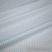 Baumwolle Leinwand Vichy Karo hellblau weiß