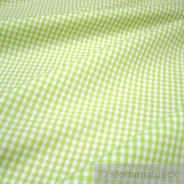 Baumwolle Leinwand Vichy Karo hellgrün weiß