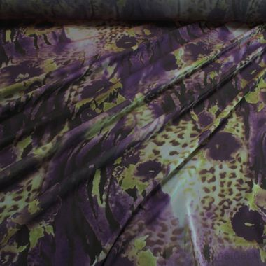 Polyester Chiffon Explosion grün lila
