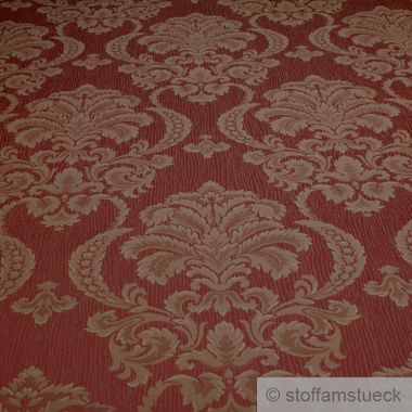 Polyester / Baumwolle Jacquard terracotta Moire Ornament