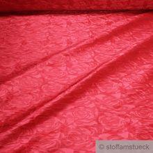 Polyester / Elastan Jacquard Stretch Kleidertaft koralle Rose
