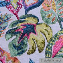 Polyester / Baumwolle Gobelin Dschungel bunte Blätter