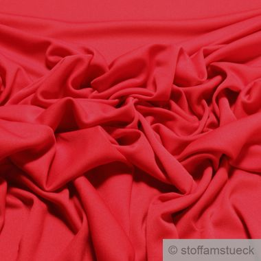 Polyester / Elastan Interlock Jersey rot leicht