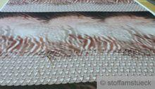 1,3 Meter Paneel Polyester Chiffon Flamme beige braun