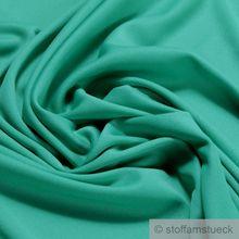 Polyester / Elastan Interlock Jersey grün leicht