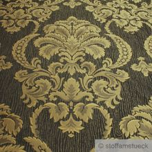 Polyester / Baumwolle Jacquard anthrazit Moire Ornament