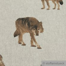 Baumwolle / Polyester Rips natur Wolf