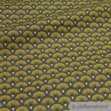 Baumwolle Popeline Welle gelb