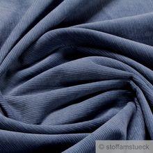 Baumwolle Cord jeansblau