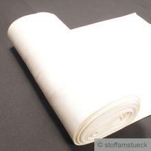 0,5 Meter Baumwolle Elastan Bündchen off-white