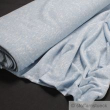 Baumwolle / Polyester / Nylon / Lurex Single Jersey hellblau Glitter