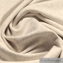 Leinen / Polyester / Lycra Interlock Jersey beige meliert