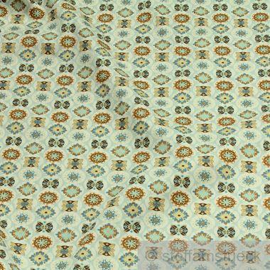 Baumwolle Popeline pastellblau Mandala