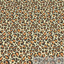 Baumwolle / Elastan Köper braun Leopard