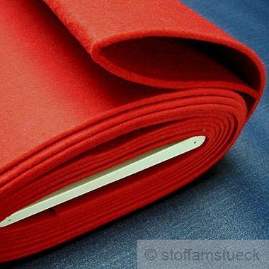 Polyester Filz rot 4 mm