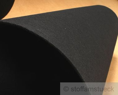 Polyester Filz schwarz 4 mm