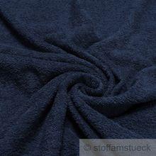 Baumwolle Frottee dunkelblau
