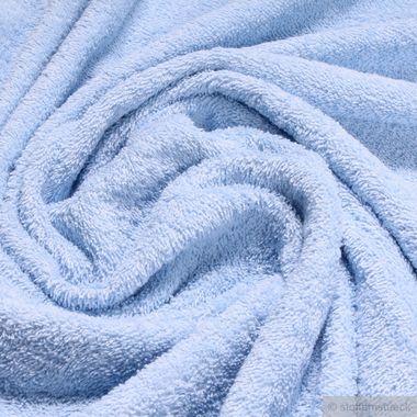 Baumwolle Frottee hellblau