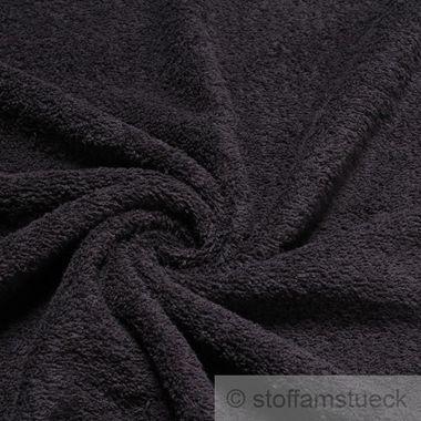 Baumwolle Frottee schwarz
