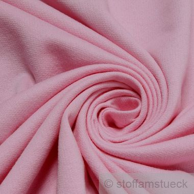 Baumwolle Single Jersey rosa angeraut