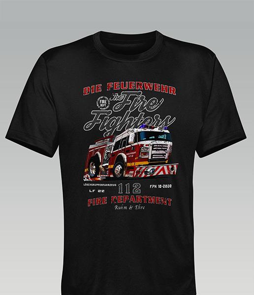 """T-Shirt Feuerwehr """"Toon LKW"""""""