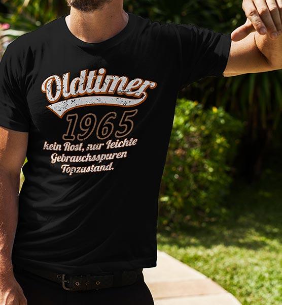 """T-Shirt """"Oldtimer..."""" mit Wunsch-Jahr"""