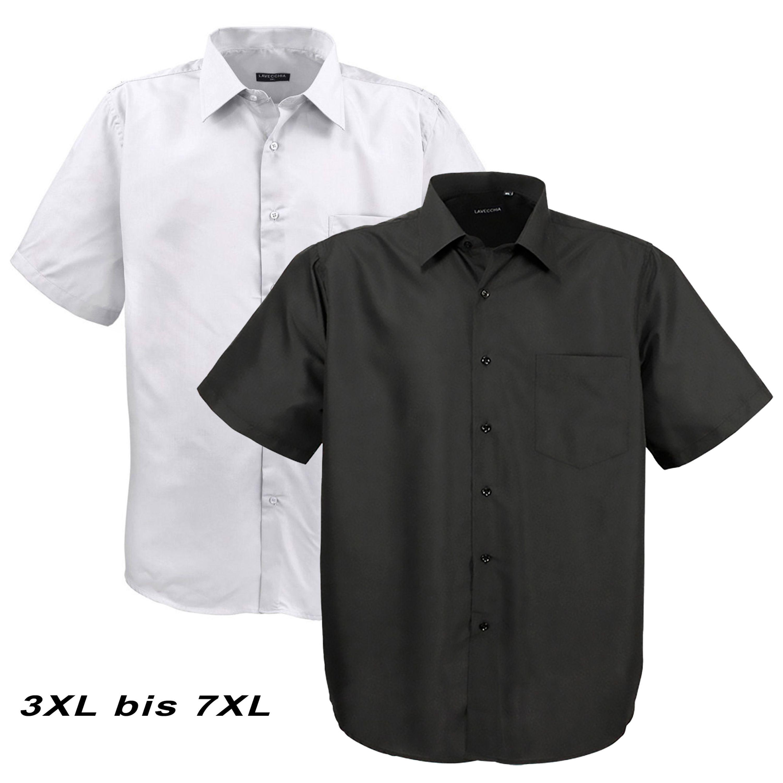 Herren Hemd langarm Freizeit Business Lavecchia Übergrößen White 3XL bis 7XL
