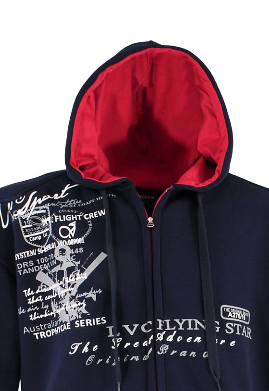 lavecchia Übergröße Designer Sweatshirt Hoodie Kapuze Jacke Shirt 3 4 5 6 7 8XL