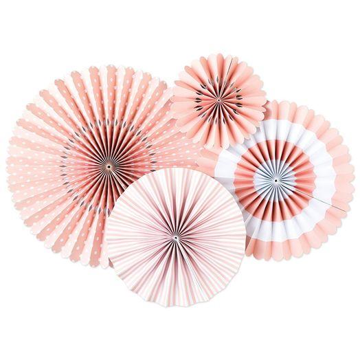 Faltrosetten-Set Rosa